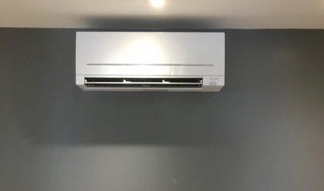Installation d'une climatisation réversible Mitsubishi dans une maison individuelle à Lons-le-Saunier